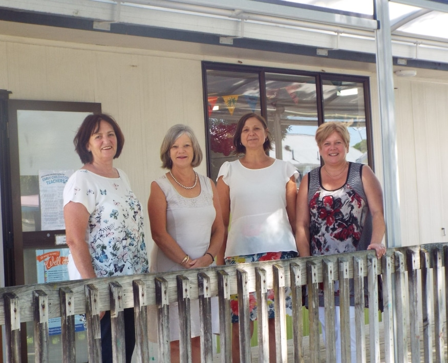 the 4 teachers at our early childhood centre